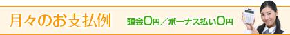 月々のお支払例 頭金0円/ボーナス払い0円
